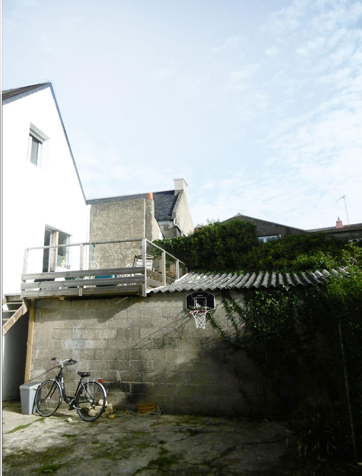 ETEL / M-LMC, projet MKS Architecture, réhabilitation d'un appentis en chambre + terrasse