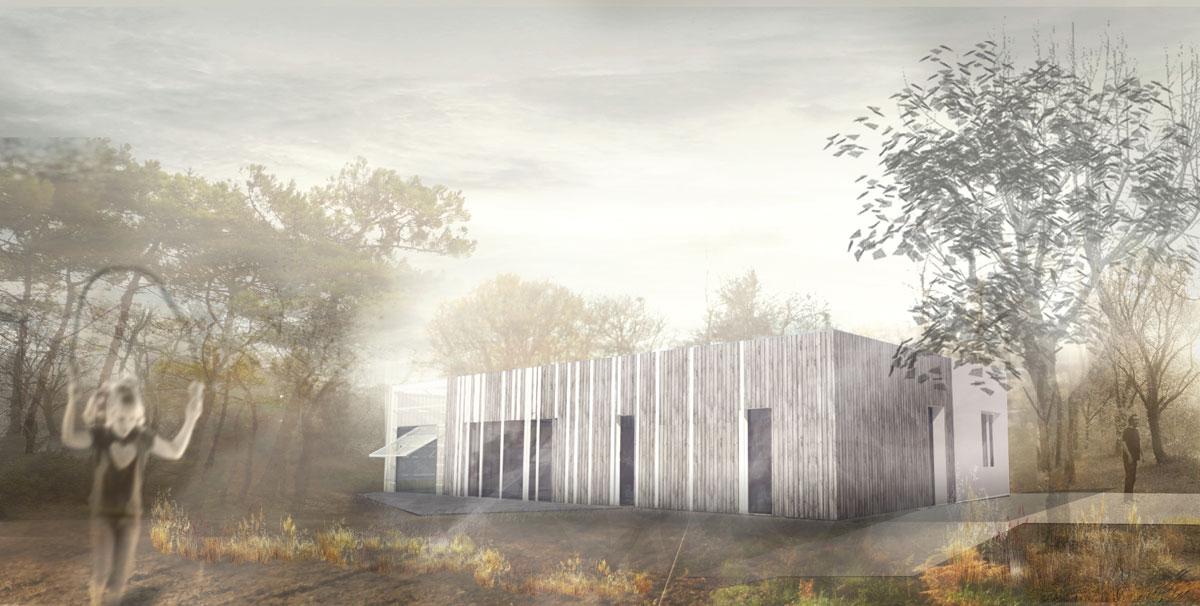 PLOEMEL / M-MMF construction d'une maison d'habitation en ossature bois