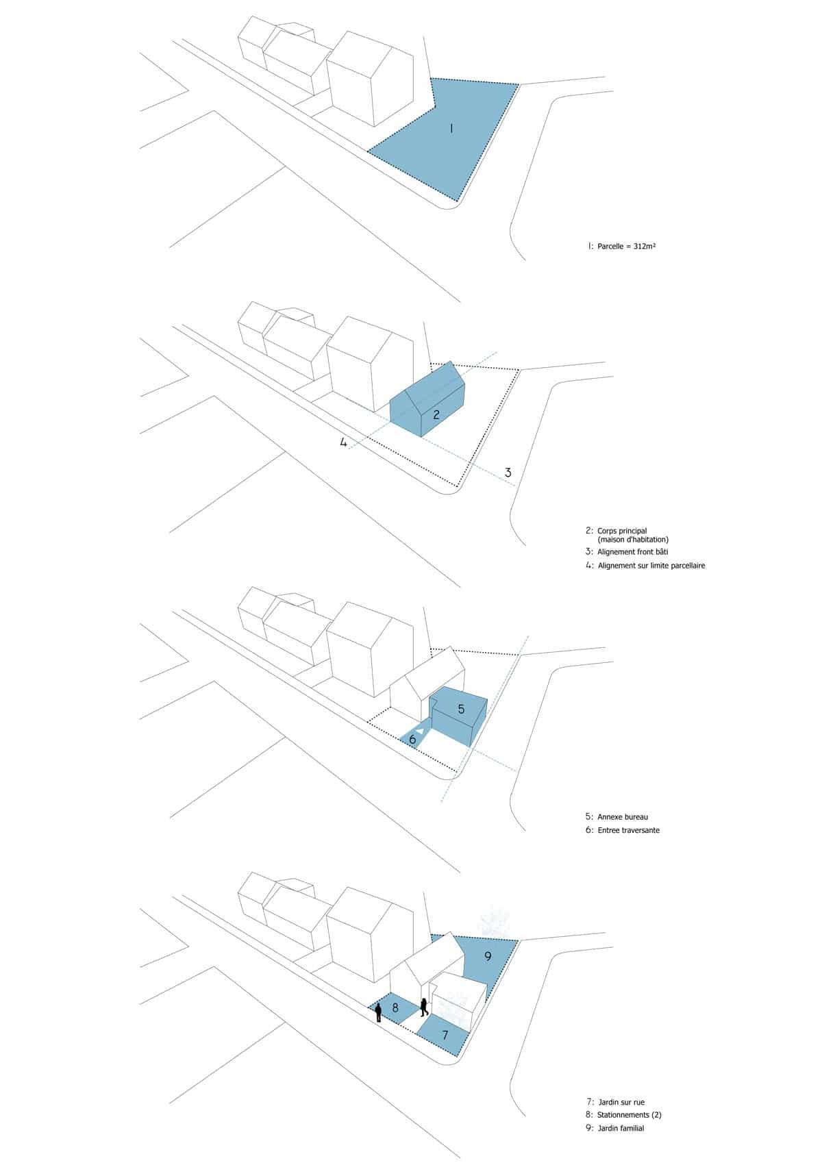 Vannes / M-LPV, projet MKS Architecture -construction d'une maison d'habitation en ossature bois