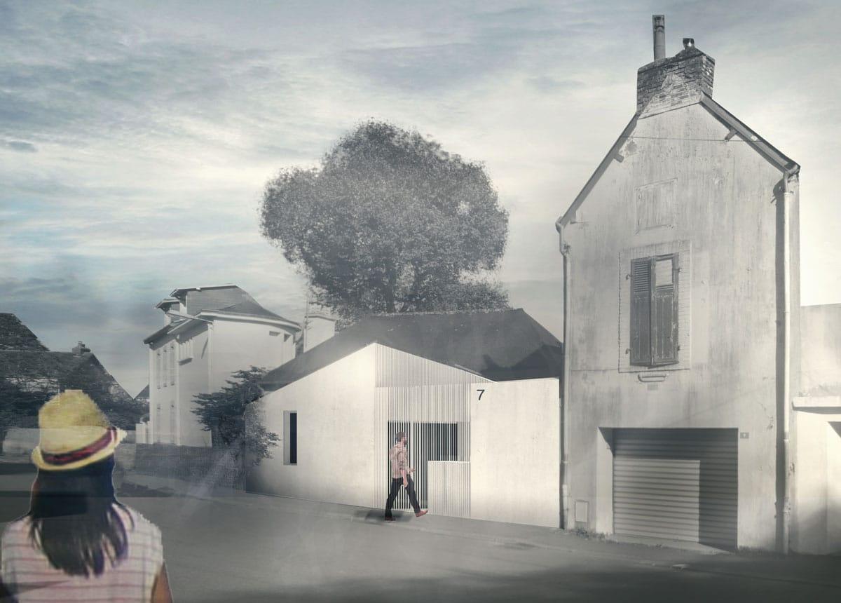 VANNES / M-PAD | projet MKS Architecture, construction d'une maison d'habitation en ossature bois + jardin d'hiver