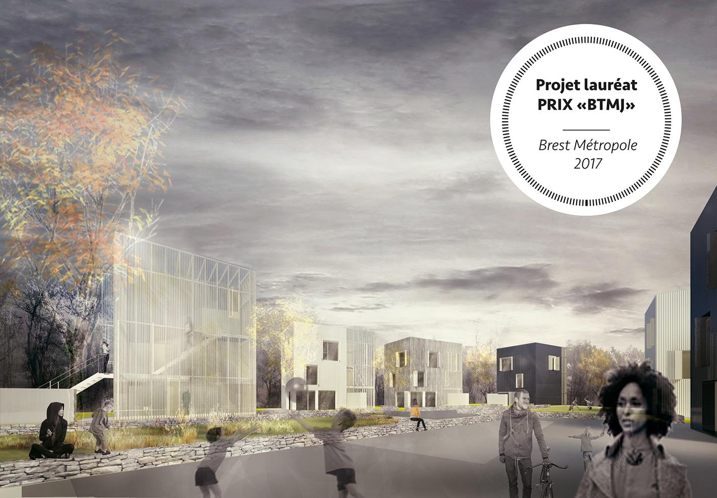 """BREST / Projet lauréat - Prix """"BTMJ"""" - Appel à idées """"Dessine-moi une maison en ville!"""""""